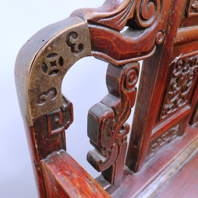 Pair of Chinese Hardwood Armchairs - Image 4 of 9