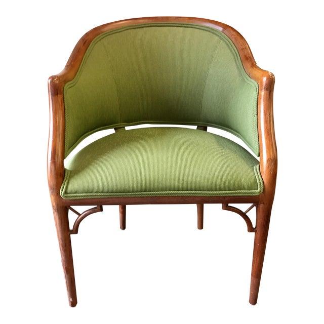 Green Corduroy & Bent Wood Chair - Image 1 of 8