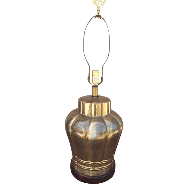 Large Vintage Brass Table Lamp - Image 1 of 3