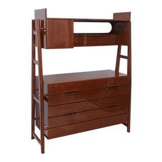 Italian Modern Mahogany Cabinet or Bookcase, Silvio Cavatorta
