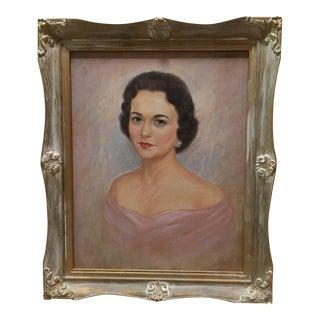 Mid-Aentury Pastel Elegant Lady Portrait