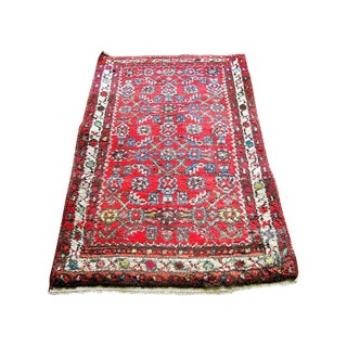 "Red Boho Chic Persian Rug - 1'11"" X 3'"