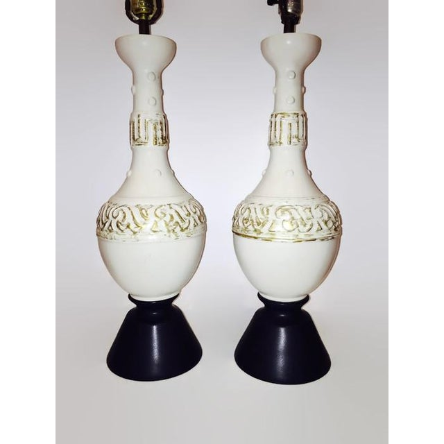 Image of Mid-Century Hollywood Regency Lamps - A Pair