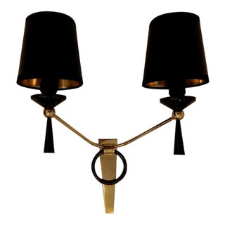 Pair of Jacques Adnet Sconces