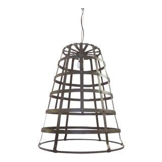 Vintage Metal Bucket Pendant Light