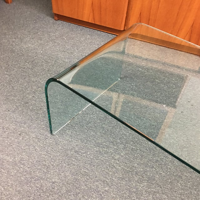 Image of Vintage Waterfall Glass Coffee Table