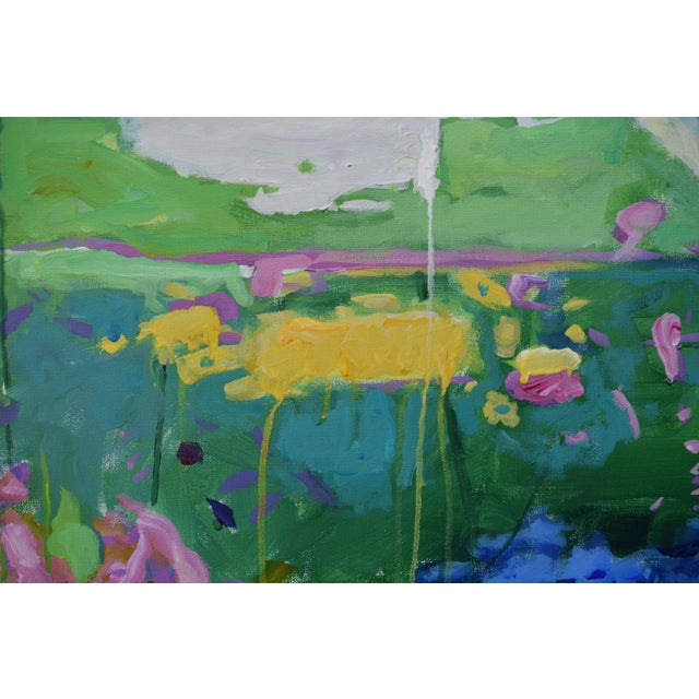 "Stephen Remick Abstract Painting, Garden Party Painting - 24"" X 30"" - Image 4 of 9"