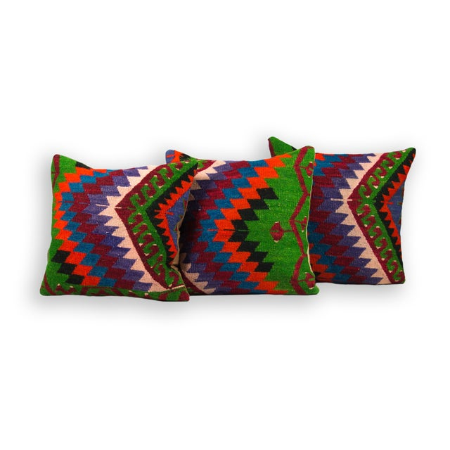 Bright Kilim Pillows - Set of 3 - Image 1 of 2