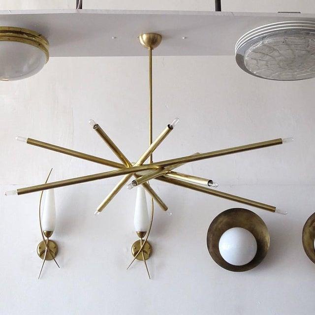 Raw Brass & Spiral Chandelier - Image 3 of 11