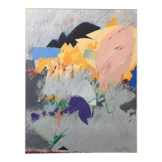 Ginger Mongiello Vintage Mid-Century Modern Abstract Oil Painting