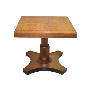 Baker Single Pedestal End Table