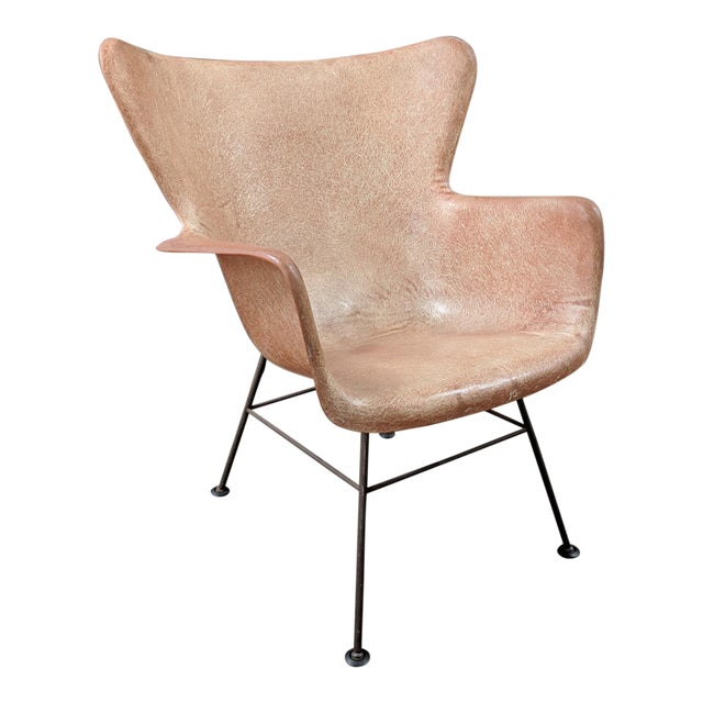 Lawrence Peabody for Selig Mid-Century Wingback Fiberglass Chair - Image 1 of 11