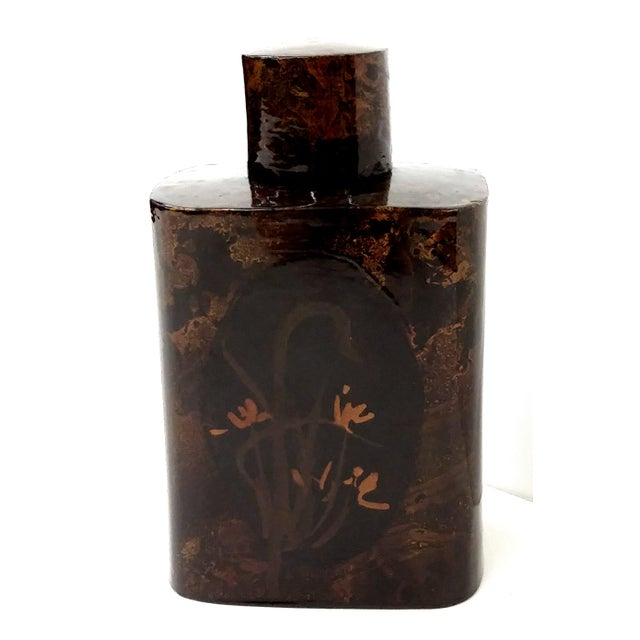 Lacquerware Tea Caddy Chinese Collectible Art - Image 2 of 7