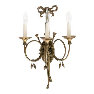 Solid Brass Horns & Tassels Sconce