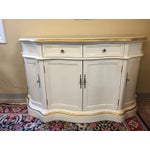 Image of Vintage Cream and Gold Lacquered Buffet