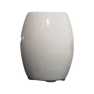 White Vitreous China La Croix Crucible Vase