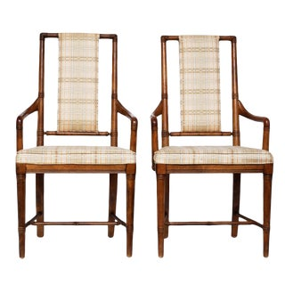Pair of Vintage Hollywood Regency Armchairs by Drexel Heritage