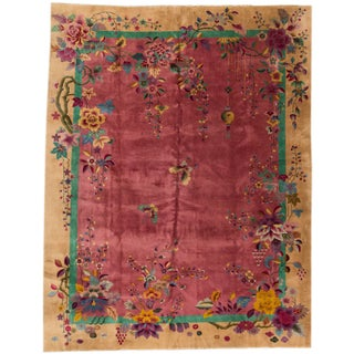 Apadana Red Chinese Art Deco Rug - 8′10″ × 11′4″