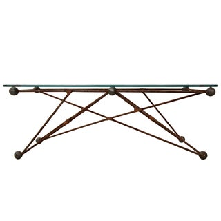 Custom Industrial Sculptural Iron Coffee Table