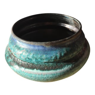 Studio Pottery Blue Textured Bowl