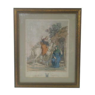 Early 1800s Framed Aqua Tint