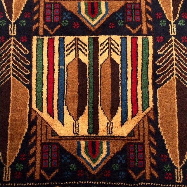 "Vintage Handmade Persian Baluchi Rug - 2'10""x4'7"" - Image 4 of 10"