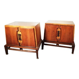 Vintage Hobey Helen Baker Walnut End Tables - A Pair
