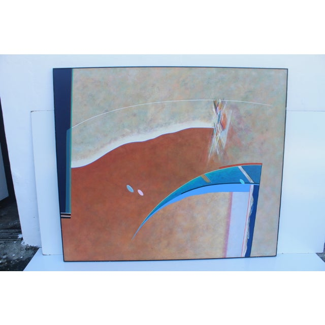 A-Large MCM Expressionist Painting by Lynn Chelton - Image 3 of 11