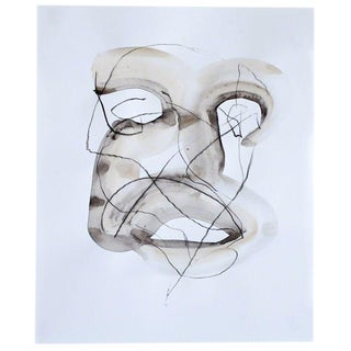 Brendan Getz Head 4 Mixed Media Painting