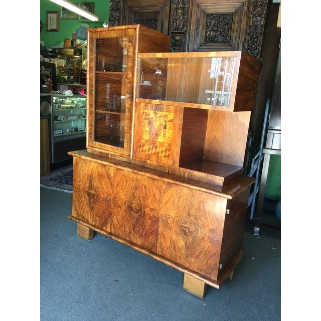 Image of Walnut French Art Deco Bar