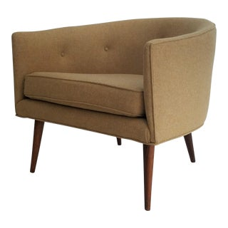 Mid-Century Barrel Chair - Newly Reupholstered
