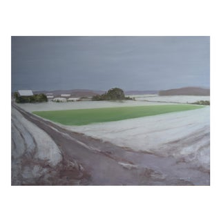 Stephen Remick Farm in First Snowfall Painting