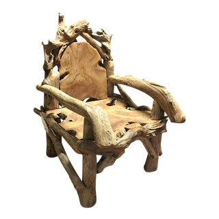 Rustic Tree Throne Chair