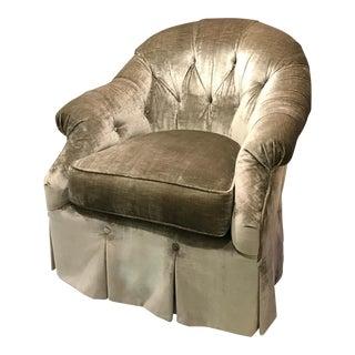 Kravet Prelude Velvet Chairs - A Pair
