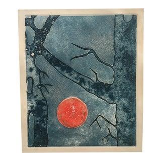 "1960s Vintage Original ""Full Moon"" Print"