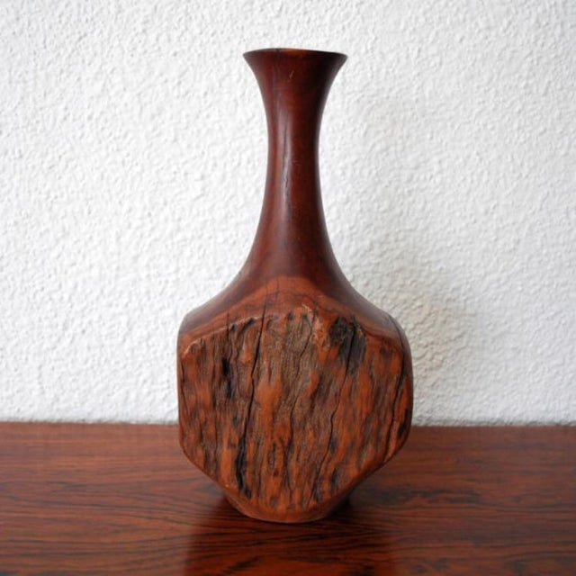 Vintage Wood Bud Vase - Image 2 of 5