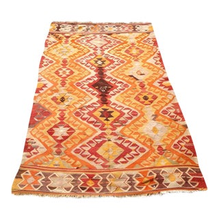 Vintage Turkish Kilim Rug - 4′4″ × 7′6″