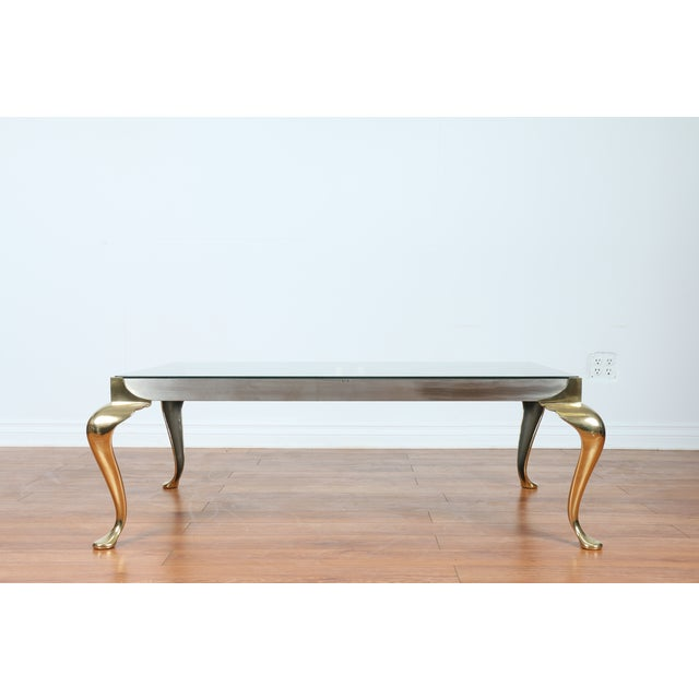 Brass Coffee Table With Glass Top - Image 3 of 10