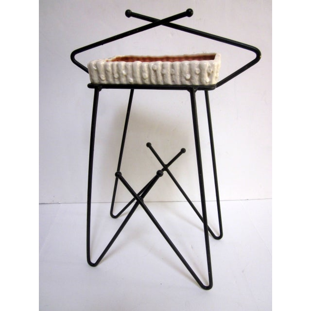 Mid-Century Modern Hairpin Atomic Ashtray Stand - Image 2 of 6