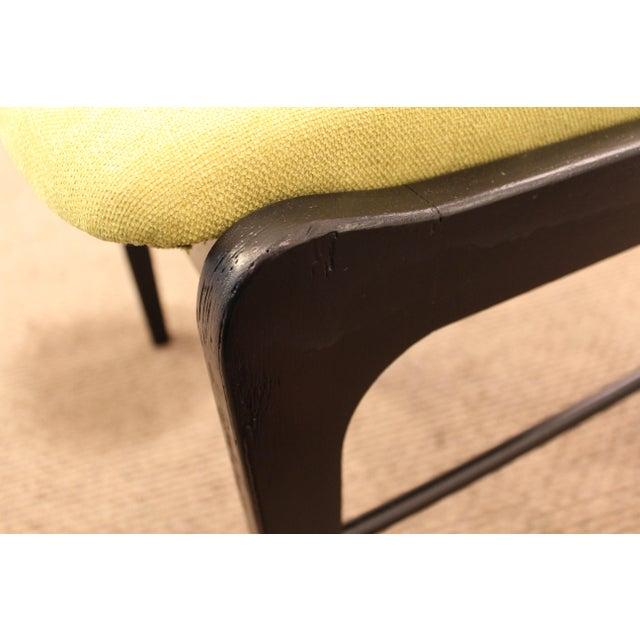 Mid-Century Danish Modern Ebonized 'Citron' Curved Back Dining Chairs - Set of 4 - Image 8 of 11