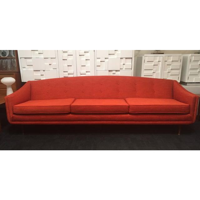 Flexsteel Sofa Vintage: 1960's Orange Flexsteel Sofa