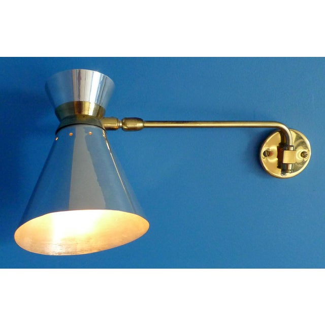 Pierre Guariche Style Adjustable Wall Scones - A Pair - Image 2 of 9