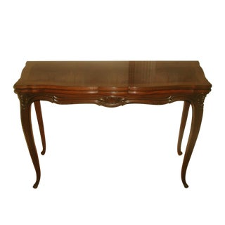 Harrod's Flip Top Walnut Burl Dining/Game Table