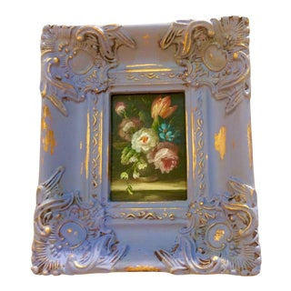 Miniature Floral Still Life Oil Painting