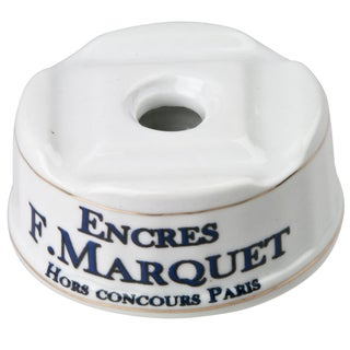 French Porcelain F. Marquet Inkwell