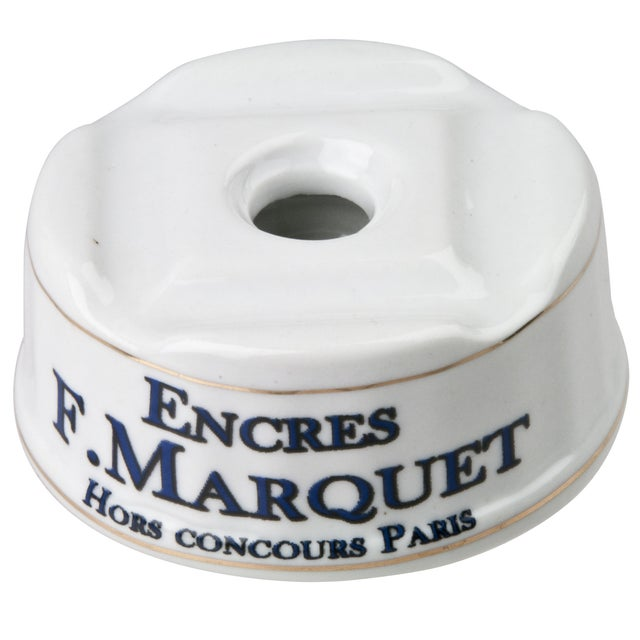 Image of French Porcelain F. Marquet Inkwell