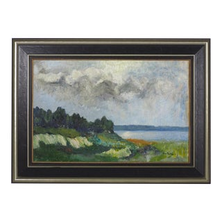 1941 Danish Landscape Oil Painting
