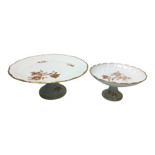 Limoges Cake Stands, Set of 2