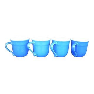 Emile Henry French Blue Mugs - Set of 4