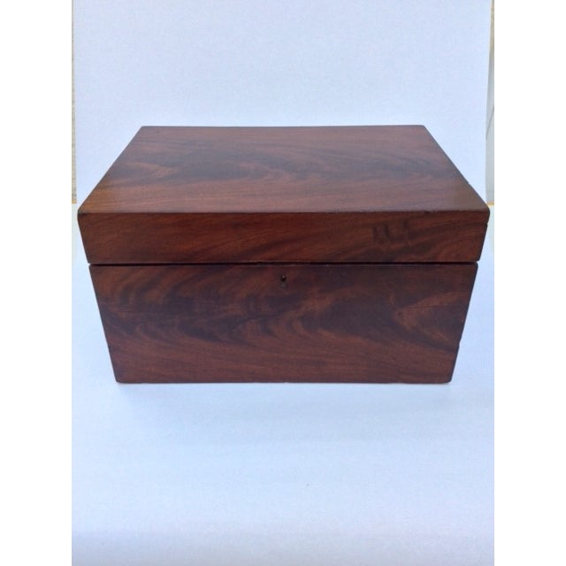Antique Mahogany Sewing Box - Image 4 of 7